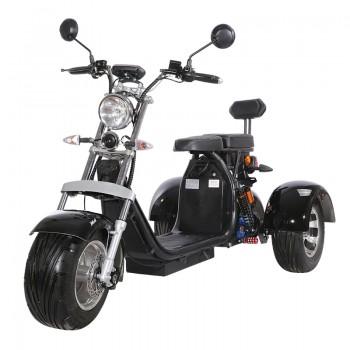 Электроскутер WS-Pro Трицикл Citycoco 2000W, 60В 20Ah Черный