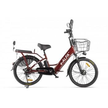 Электровелосипед Green City e-ALFA new Коричневый