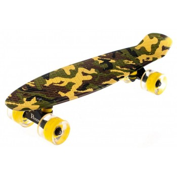 Пенни Борд с рисунком Zippy skateboards Ultra Led желтый камуфляж