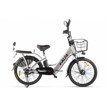 Электровелосипед Green City e-ALFA new (Серебристый)