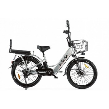 Электровелосипед GREEN CITY e-ALFA Fat Серый