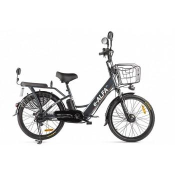 Электровелосипед Green City e-ALFA new (темно-серый)
